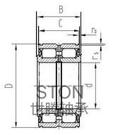 双密封双列满装圆柱滚子轴承NNF(SL04)