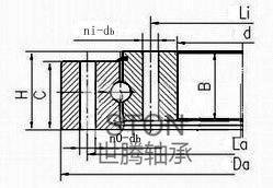 无齿单列四点接触球型转盘轴承